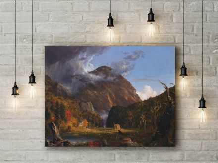 Thomas Cole: Crawford Notch. Fine Art Canvas.